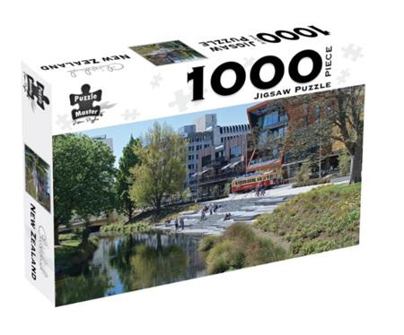 Puzzle Box 1000 Piece Jigsaw Puzzle: Christchurch NZ