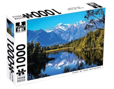 Puzzle Box 1000 Piece Jigsaw Puzzle: Lake Matheson
