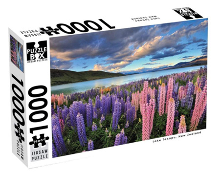 Puzzle Box 1000 Piece Jigsaw Puzzle: Lake Tekapo