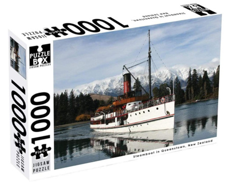 Puzzle Box 1000 Piece Jigsaw Puzzle: Steamboat Queenstown NZ