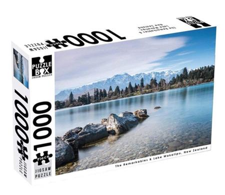 Puzzle Box 1000 Piece Jigsaw Puzzle: The Remarkables & Lake Wakatipu