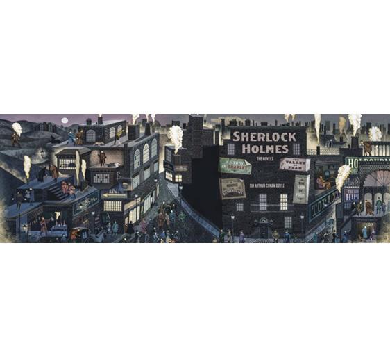 PuzzlesNZ has New York Puzzle 1000 Piece  panorama puzzle Sherlock Holmes