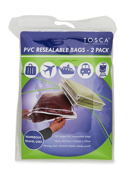 PVC Resealable Bags 2 in pack