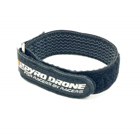 PYRODRONE KEVLAR BATTERY STRAP W/ WOVEN RUBBER GRIP & METAL BUCKLE - 250X20MM