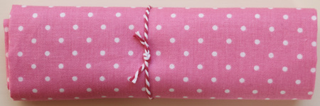 QF002  Pink with White Dots