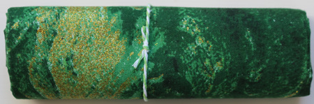 QF019  Green & Gold Glitter