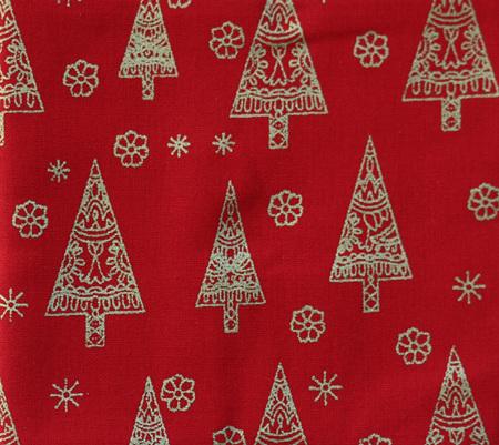 QF059  Christmas Trees - Red