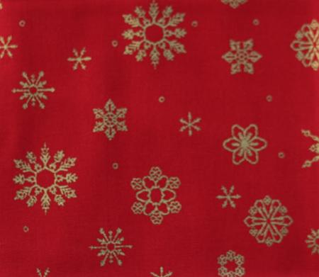 QF061  Christmas Snowflakes - Red