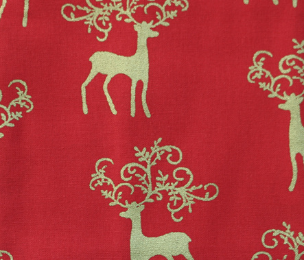 QF062  Christmas Reindeer - Red