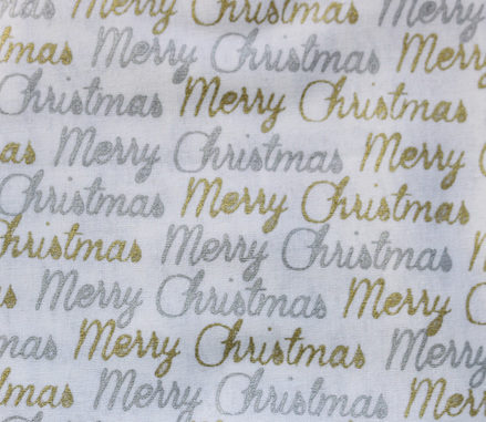 QF065  Merry Christmas - White