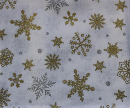 QF068  Christmas Snowflakes - White