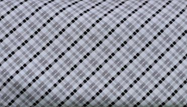 QF079  Grey & Black Hexagon Check