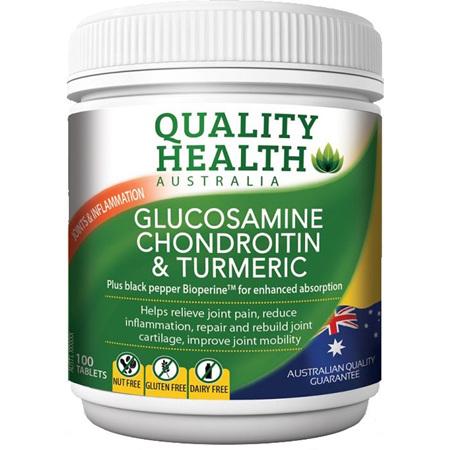 QH GLUCOSAMINE CHONDROITIN & TUMERIC 100
