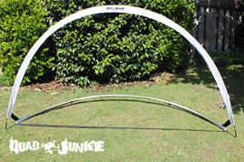Quad Junkie Free Standing Popup Racing Gates 2.1x1.5m White