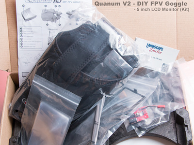Quanum V2 - DIY FPV Goggle - 5 inch LCD Monitor (Kit)