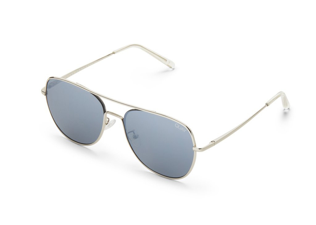 1eda32b24e54d QUAY SUNGLASSES - RUNNING RIOT Silver   Mirror - Kode Boutique