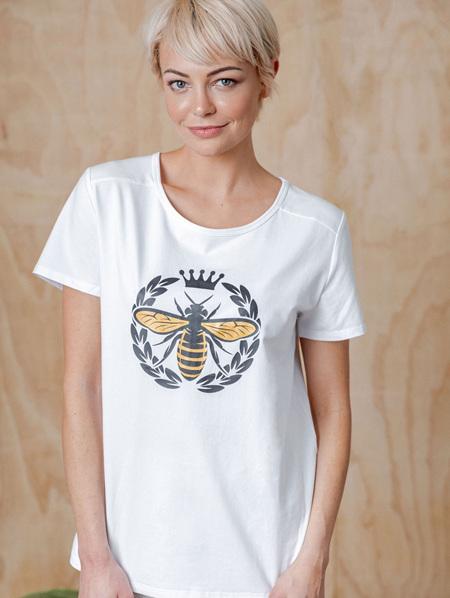 Queen Bee Tee - White