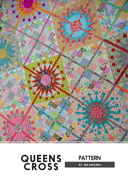 Queens Cross Quilt Pattern from Jen Kingwell Designs