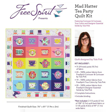 Quilt Kit - Mad Hatter Tea Party PREORDER (Deposit)