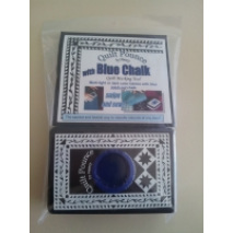 Quilt Pounce Pad with Blue Chalk