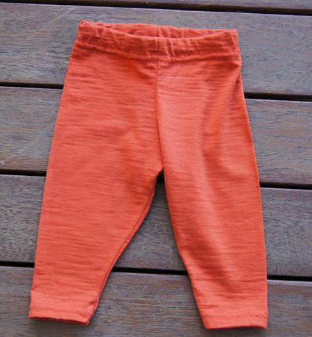'Quinn' Leggings, 100% Merino 'Rust', 3-6m