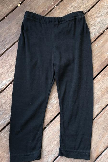 'Quinn' Leggings, 100% NZ Merino, Black, 3-6 months