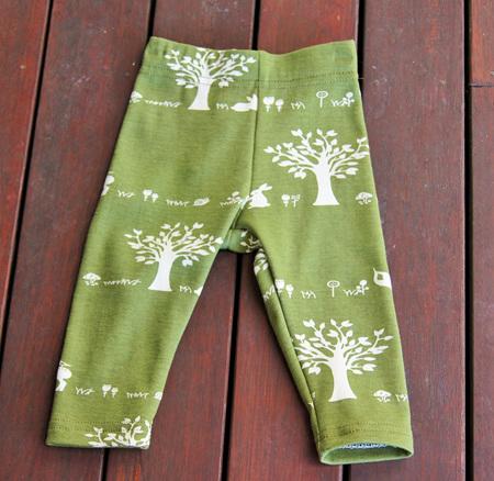 'Quinn' Leggings, 'Forest Friends' GOTS Organic Cotton Knit, 3-6m