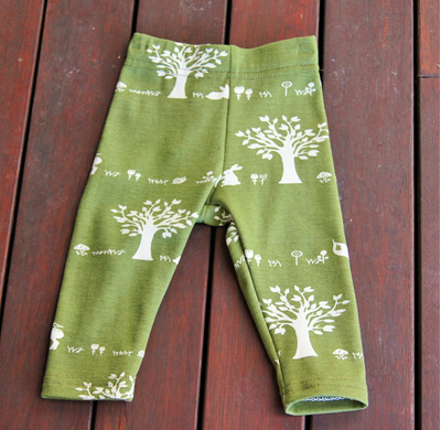'Quinn' Leggings, 'Forest Friends' GOTS Organic Cotton Knit, 3-6m