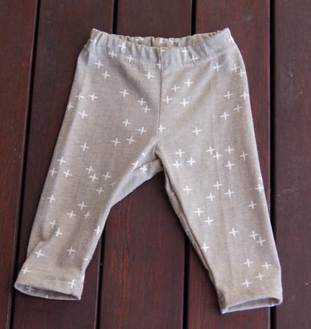 'Quinn' Leggings, 'Wink Shroom' GOTS Organic Cotton Knit, 6-9m