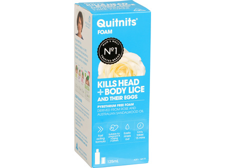 Quitnits Head & Body Lice Foam 125ml