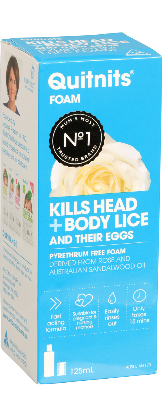 Quitnits Head & Body Lice Foam 125ml