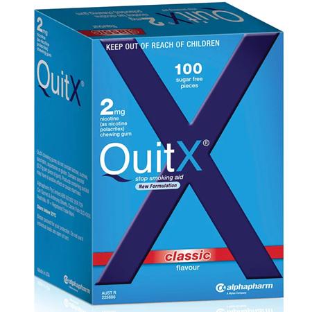QUITX GUM CLASS 2MG 100
