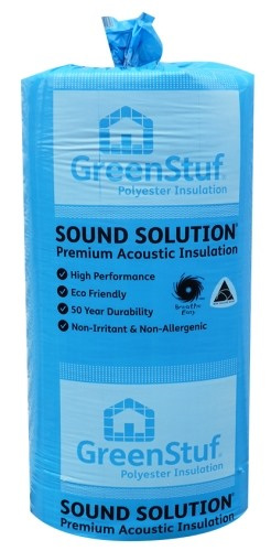 R1.8 GreenStuf Sound Solution PADS 580mm wide - 11.4m2/bag