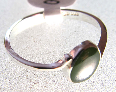 R65 Mana NZ Greenstone oval ring