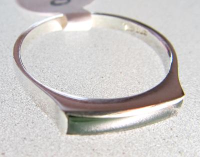 R68 Mana NZ Greenstone slim rectangular ring