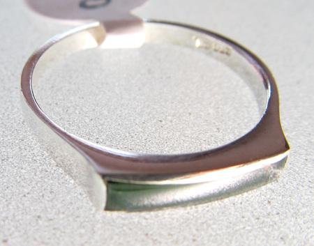 R68 Slim rectangular NZ Greenstone Ring
