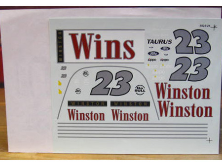 "Racescale ""Wins"" Taurus Decals"