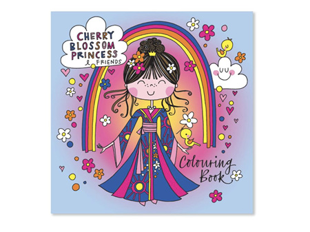 Rachel Ellen Cherry Blossom Princess Colouring Book