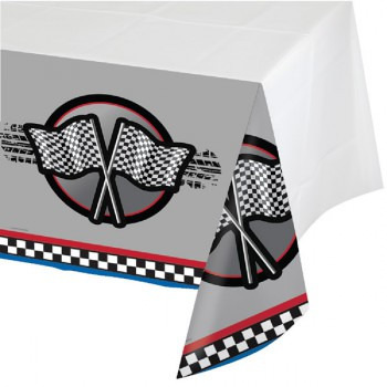 Racing Car and Flags Tablecover