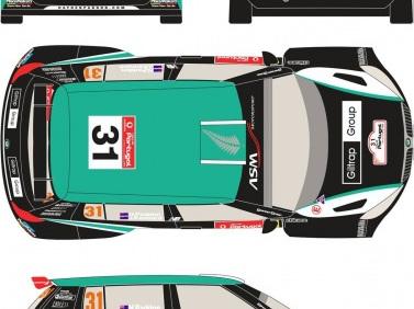 Racing Decals 43 1/24 Skoda Fabia Portugal 2012 Paddon