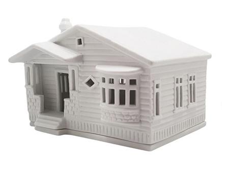 Rader Bungalow Porcelain Tealight House