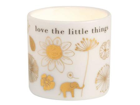Rader Flowers Love the Little Things Glazed Porcelain Tealight Candle Holder