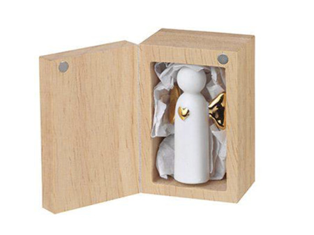 Rader Small Angel to Go Companion Porcelain in Wooden Box