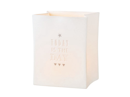 Rader Today is the Day Porcelain Tealight Bag
