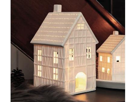 Rader Traditional Half-Timber House Porcelain Tea Light