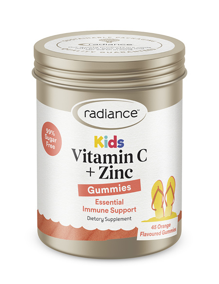 Radiance Kids Vitamin C Plus Zinc GUMMIES 45