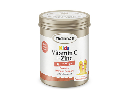 Radiance Kids Vitamin C Plus Zinc GUMMIES 45