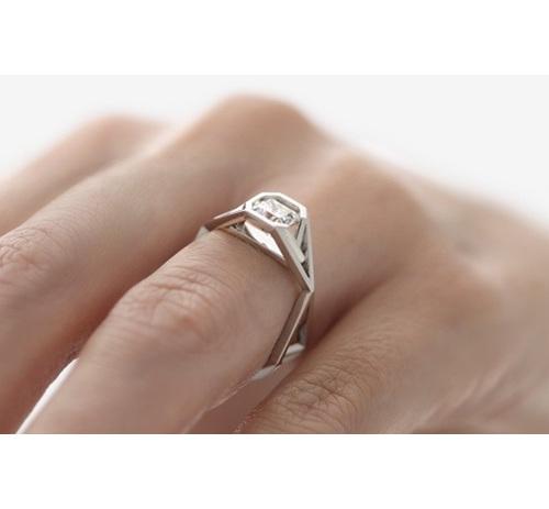 Radiant Diamond Ring on hand