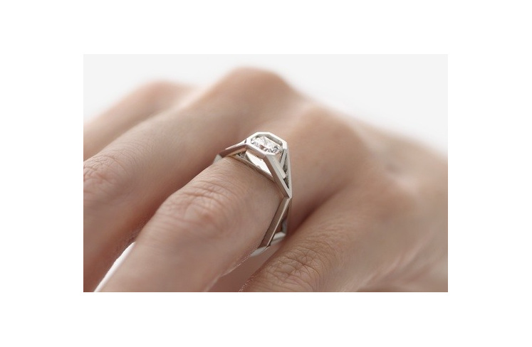 Radiant Diamond Ring on hand