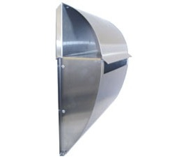 Radius Stainless Steel Letterbox